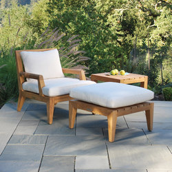 Mendocino Deep Seating Lounge Chair + Ottoman | Sillones de jardín | Kingsley Bate
