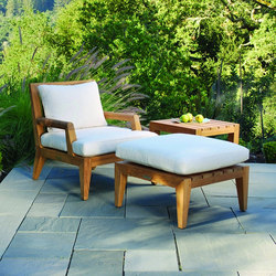 Mendocino Deep Seating Lounge Chair + Ottoman | Garden armchairs | Kingsley Bate
