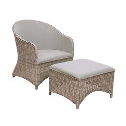 Milano Club Chair + Ottoman | Poltrone da giardino | Kingsley Bate
