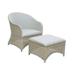 Milano Club Chair + Ottoman | Sillones de jardín | Kingsley Bate