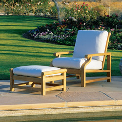 Nantucket Deep Seating Lounge Chair + Ottoman | Gartensessel | Kingsley Bate