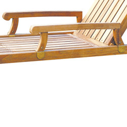 Nantucket Chaise Arms | Accessori da giardino | Kingsley Bate