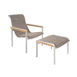 Naples Club Chair + Ottoman | Poltrone da giardino | Kingsley Bate