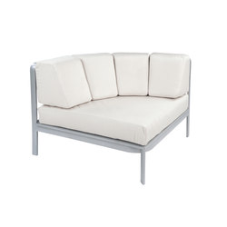Naples Sectional Curved Corner Chair | Garden armchairs | Kingsley Bate