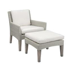 Paris Club Chair + Ottoman | Poltrone da giardino | Kingsley Bate