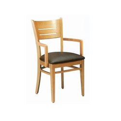 Wood Dining Chair with Armrest | Sillas para restaurantes | BK Barrit