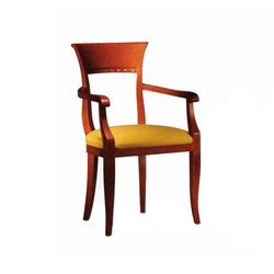 Wood Dining Chair with Armrest | Sedie ristorante | BK Barrit