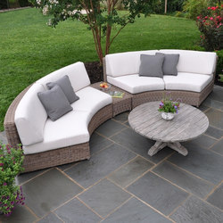 Sag Harbor Curved Sectional | Sedute lounge da giardino | Kingsley Bate