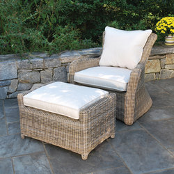 Sag Harbor Lounge Chair + Ottoman | Gartensessel | Kingsley Bate
