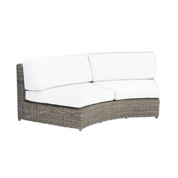 Sag Harbor Sectional Cuved Settee | Poltrone da giardino | Kingsley Bate
