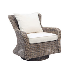 Sag Harbor Swivel Rocker Lounge Chair | Gartensessel | Kingsley Bate