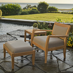 Sonoma Club Chair + Ottoman | Garden armchairs | Kingsley Bate