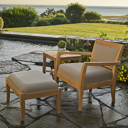 Sonoma Club Chair + Ottoman | Garden armchairs | Kingsley Bate