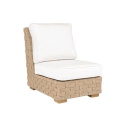 St. Barts Sectional Armless Chair | Garden armchairs | Kingsley Bate