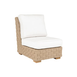 St. Barts Sectional Armless Chair | Poltrone da giardino | Kingsley Bate