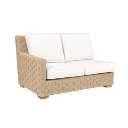 St. Barts Sectional Left Arm Facing Settee | Divani da giardino | Kingsley Bate