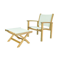 St. Tropez Club Chair + Ottoman | Poltrone da giardino | Kingsley Bate