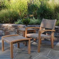 Venice Club Chair + Ottoman | Poltrone da giardino | Kingsley Bate