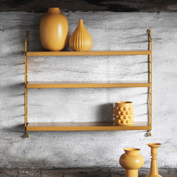 string pocket mustard | CD racks | string furniture