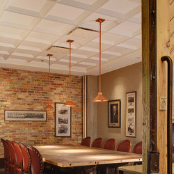 Art Deco Coffer Ceiling Tile | Mineral composite panels | Above View Inc