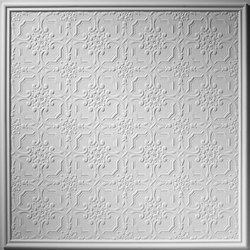 Bell & Flower Ceiling Tile | Compuesto mineral planchas | Above View Inc