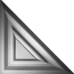 Classic Triangle Ceiling Tile | Compuesto mineral planchas | Above View Inc