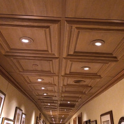 Classic Woodgrain Panel Ceiling Tile | Minerale composito pannelli | Above View Inc