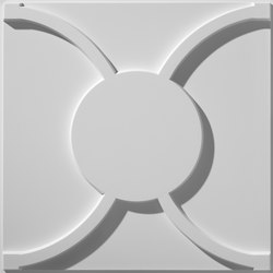 Cloverleaf Flat Center Ceiling Tile | Compuesto mineral planchas | Above View Inc