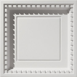 Coffered Dentil With Revealed Edge Ceiling Tile | Mineralwerkstoff Platten | Above View Inc