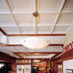 Coffered Egg & Dart Ceiling Tile | Mineral composite panels | Above View Inc