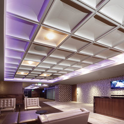 Contemporary Coffer Ceiling Tile | Mineralwerkstoff Platten | Above View Inc