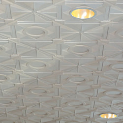 Deco 1 - Circle Ceiling Tile | Minéral composite panneaux | Above View Inc