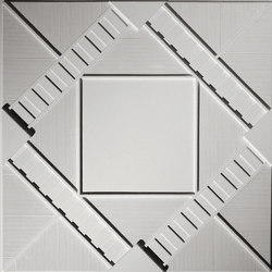 Deco 2 - Square Ceiling Tile | Mineral composite panels | Above View Inc