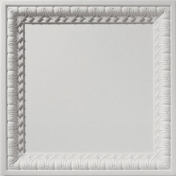 English Lamb's Tongue Blank Center Ceiling Tile | Mineralwerkstoff Platten | Above View Inc