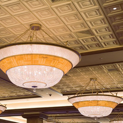 English Lamb's Tongue Center Rosette Ceiling Tile | Mineral composite panels | Above View Inc