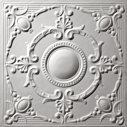 French Medallion Ceiling Tile | Mineralwerkstoff Platten | Above View Inc