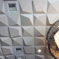 Pyramid 4 Ceiling Tile | Mineral composite panels | Above View Inc
