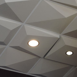 Pyramid Utility Ceiling Tile | Mineral composite panels | Above View Inc