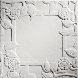 Spanish Rose Blank Center Ceiling Tile | Compuesto mineral planchas | Above View Inc