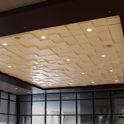 Square Drop 1 Ceiling Tile | Mineral composite panels | Above View Inc