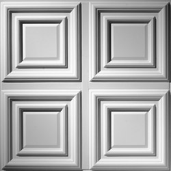 Traditional 1/4 Panel Ceiling Tile | Minéral composite panneaux | Above View Inc