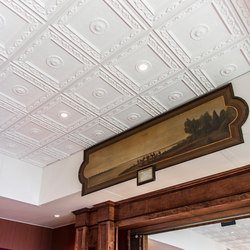 Victorian Poppy Ceiling Tile | Mineral composite panels | Above View Inc