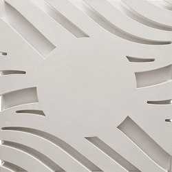 Wave A Smooth Center Ceiling Tile | Minerale composito pannelli | Above View Inc