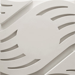 Wave B Smooth Center Ceiling Tile | Compuesto mineral planchas | Above View Inc