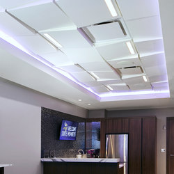 Wedge Ceiling Tile | Minéral composite panneaux | Above View Inc