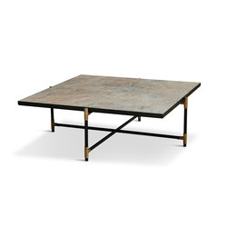 Coffee Table 90 Brass - Colombe d'Or Marble | Lounge tables | HANDVÄRK