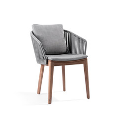 Mood Dining Chair | Wengé | Garden chairs | Tribù