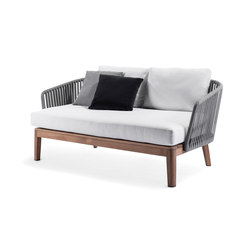 Mood Outdoor Sofa | Wengé | Garden sofas | Tribù