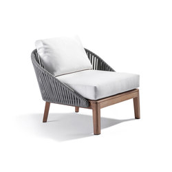 Mood Sofa / Club Chair | Wengé | Garden armchairs | Tribù
