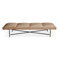 Daybed Brass - Vegetal Aniline Leather | Day beds | HANDVÄRK